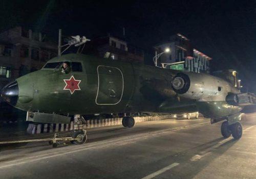 काठमाडौंको सडकमा विमान गुडेपछि…