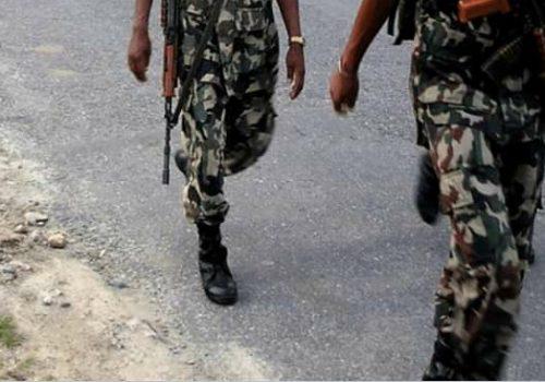 दार्चुला महाकाली बजार क्षेत्रमा सेना परिचालन