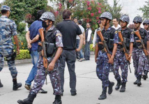 भीआईपीको रबाफमा सुरक्षाकर्मीको लर्को