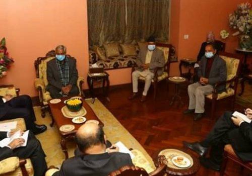 काँग्रेस सभापति देउवासँग भारतका विदेश सचिवको भेटवार्ता
