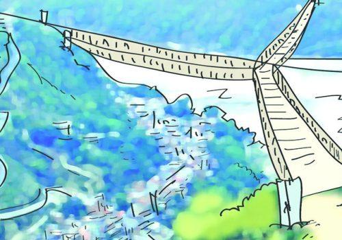 रिडी धाममा तीन जिल्ला जोड्ने तीनमुखे पुल बन्दै