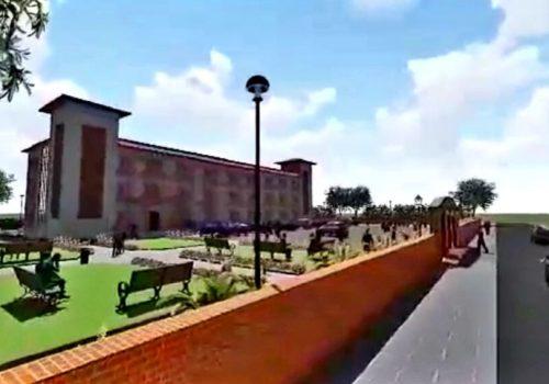 माछापुछ्रे गाउँपालिकाको प्रशासकीय भवनको निर्माण तीव्र