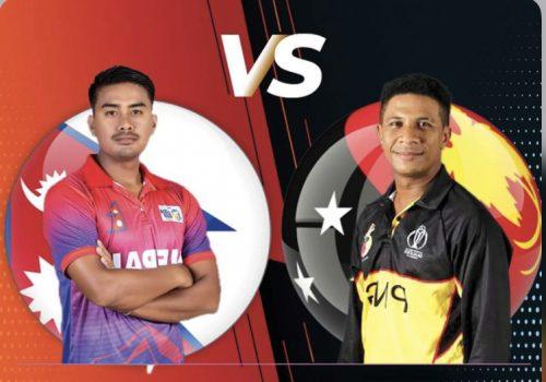अन्तर्राष्ट्रिय क्रिकेटमा पपुवा न्यु गिनी(पीएनजी)लाई २ विकेटले पराजित गर्दै नेपाल विजयी