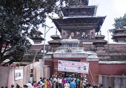वर्षमा एकपटक महानवमीका दिन मात्र खुल्ने तलेजु भवानीको मन्दिर खुला